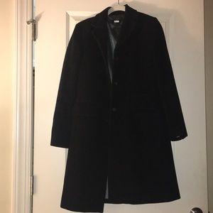 Black wool coat from J.Crew